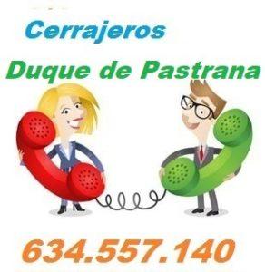 Telefono de la empresa cerrajeros Duque de Pastrana
